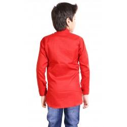 AD & AV BOY'S SHORT KURTA RED
