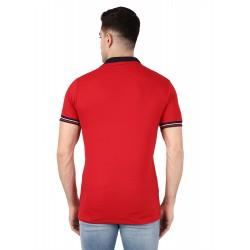 AD & AV BOYS DOUBLE COLLAR RED T-SHIRT