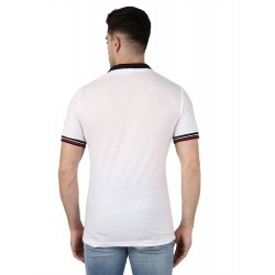 AD & AV BOYS DOUBLE COLLAR WHITE T-SHIRT