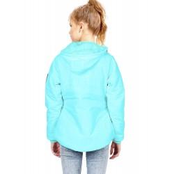 Full Sleeve Solid Girls Parka Jacket