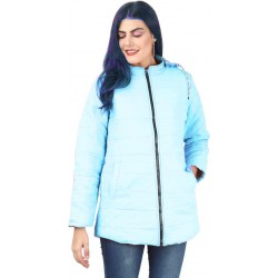Full Sleeve Solid Women Parka Jacket