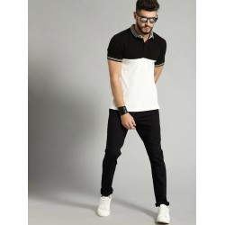 Regular Fit Men Black Polyester Trousers