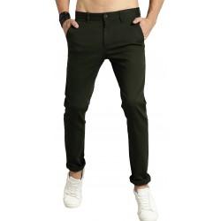 Regular Fit Men Green Polyester Trousers