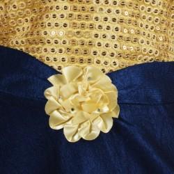 Girls Midi/Knee Length Casual Dress  (Blue, Sleeveless)