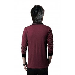 Boys Solid Pure Cotton T Shirt  (Maroon, Pack of 1)