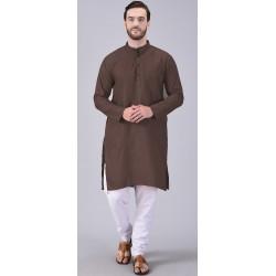 Men Kurta and Pyjama Set Cotton Linen Blend