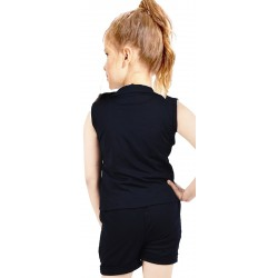 Girls Casual Top Shorts  (Dark Blue)