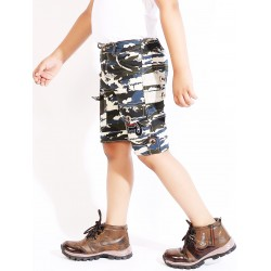 Short For Boys Casual Printed Cotton Blend  (Multicolor, Pack of 1)