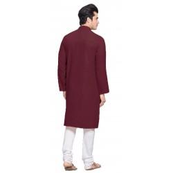 Men Kurta and Churidar Set Cotton Blend
