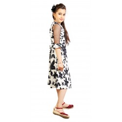 AD & AV Girls FROCK BLACK PATTI