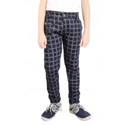 BOYS TROUSER CHEXBLACK