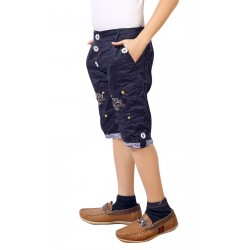 Short For Boys Casual Solid Cotton 8  JEANS AND KHAKI SHORTS (Multicolor, Pack of 2)