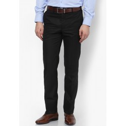 AD & AV Regular Fit Men'sBLACK Trousers (128)