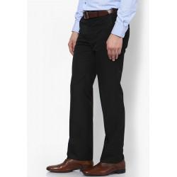 AD & AV Regular Fit Men'sBLACK Trousers (128)