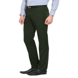 AD & AV Regular Fit Men's  GREEN Trousers (218)