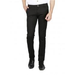 AD & AV Regular Fit Men'sBLACK Trousers (323)