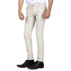 AD & AV Regular Fit Men's CREAM Trousers (324)