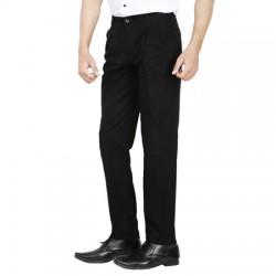 AD & AV Regular Fit Men'sBLACK Trousers (326)