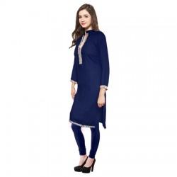 AD & AV Festive & Party Embellished Women Kurti DARK BLUE (440)