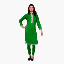 AD & AV Festive & Party Embellished Women Kurti  GREEN (441)
