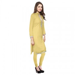 AD & AV Festive & Party Embellished Women Kurti  LIGHT YELLO  (442)