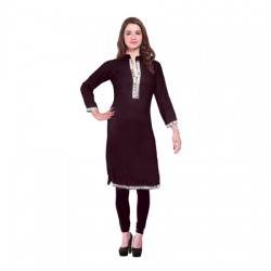 AD & AV Festive & Party Embellished Women Kurti MAROON (443)