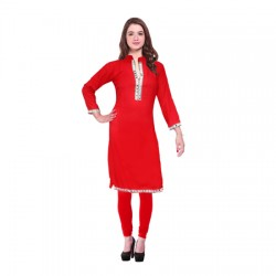 AD & AV Festive & Party Embellished Women REDKurti  (445)
