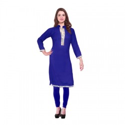 AD & AV Festive & Party Embellished Women ROYAL BLUE KURTI (446)