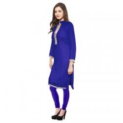AD & AV Festive & Party Embellished Women ROYAL BLUE KURTI (446)