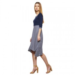 AD & AV Women's Fit and Flare Multicolor Dress (558)