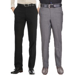 Regular Fit Men's combo gd black and grey
