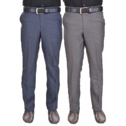 Regular Fit Men's combo gd grey and blue