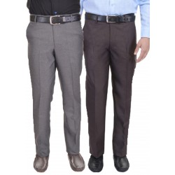 Regular Fit Men's combo gd grey and coffi