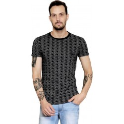 AD & AV Solid Men's V-neck BLACK CHEX T-Shirt HS(657)