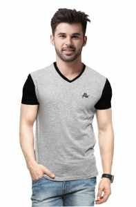 AD & AV Solid Men's V-neck nevy T-Shirt HS (633)