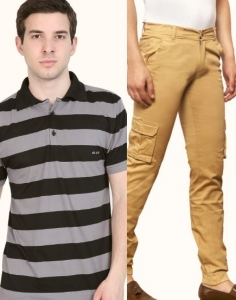 DRESS ME UP  LATEST COMBO MEN'S TROUSER  AND T SHIRT