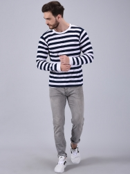 Striped Men's  BLUE  T-Shirt