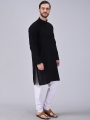 Men    PLAIN BLACK KURTA PAJAMA