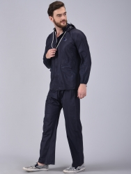 Solid Men Raincoat