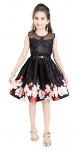AD & AV  GIRLS FROCK BLACK DIGITAL