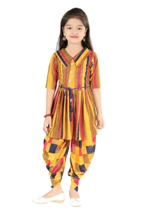 AD & AV Girls  Casual Dress ( PANJABI SUIT YELLOW )