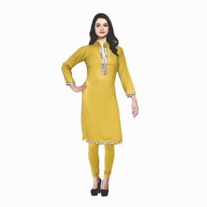 AD & AV Festive & Party Embellished Women Kurti   YELLO  (442)