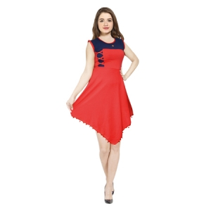AD & AV Women's Fit and Flare RED NEVY Dress (454)