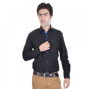AD & AV MENS REGULAR SHIRT BLACK