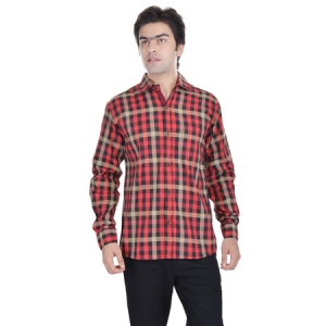 AD & AV MENS REGULAR SHIRT RED