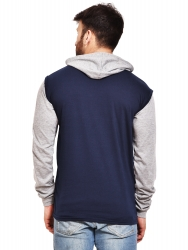 Solid Men Hooded Multicolor T-Shirt  (Pack of 2)