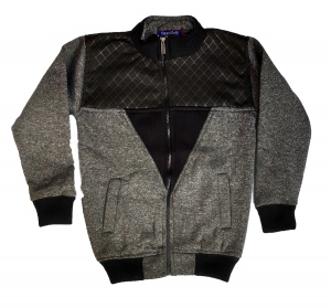 Full Sleeve Self Design Men Jacket